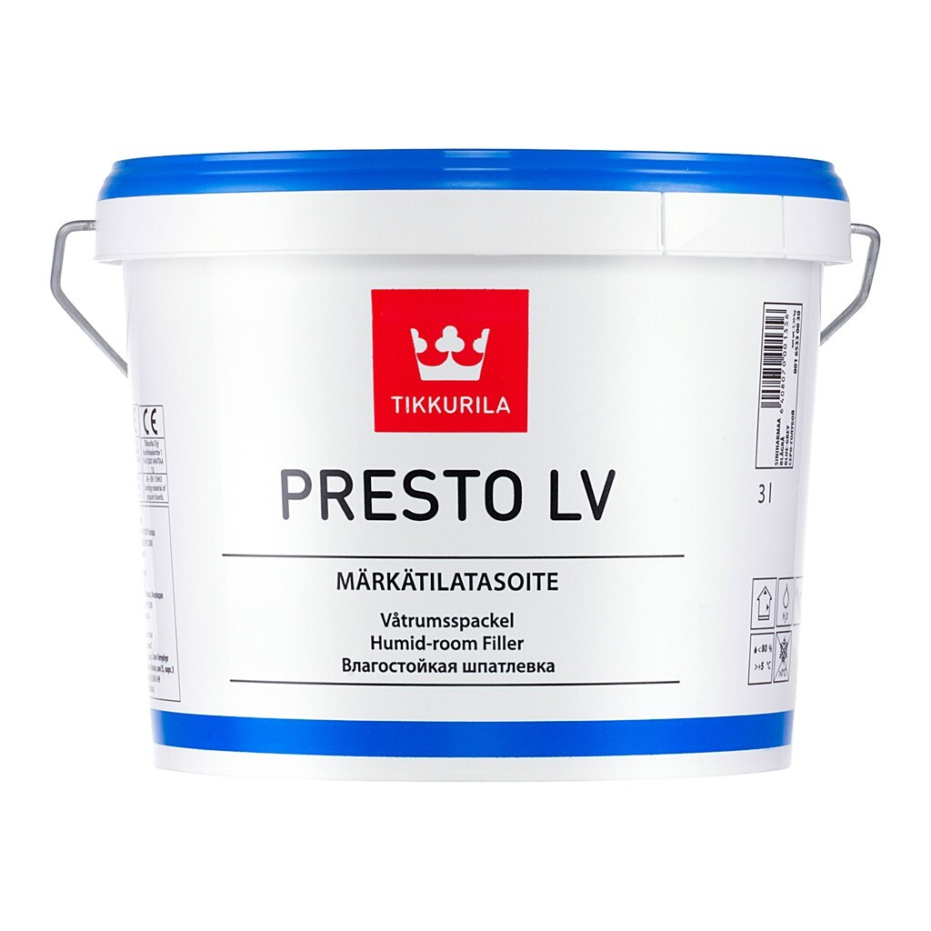 Шпаклівка готова фінішна Tikkurila Presto LV, 4,5кг