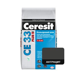 Фуга Cerasit CE 33 Антрацит, 2кг