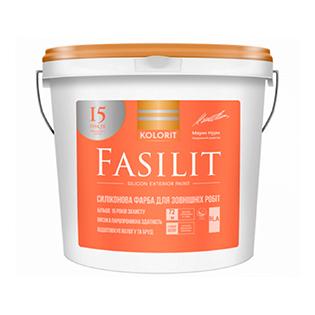 Фасадна фарба силіконова Kolorit Fasilin (база С), 9л