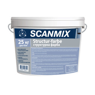 Структурна фарба Scanmix, 15кг